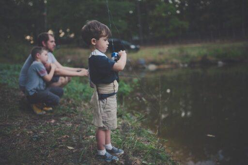 La Vinculación, Niño, Niños, Disfrute, Padre, Pesca